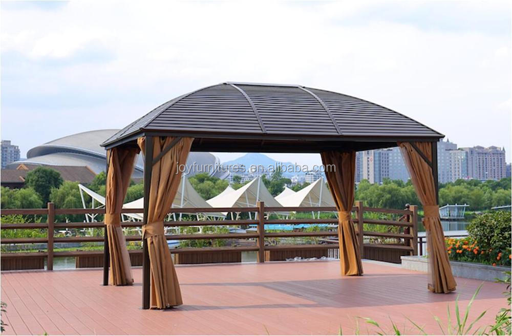 Aluminum Curved Metal Roof Hard Top Gazebo Iron Roof Gazebo Solid Roof Party Galvanized Luxury Garden Gazebo
