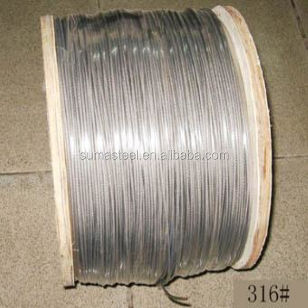 factory offer huajie 316 stainless steel wire rope