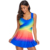 Wholesale Women Royal Blue Ombre Tie Dye Swim Dress With Shorts Swimsuits Tankini