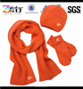 Orange Gloves Hat And Scarf Set Beanie Scarf Gloves Three-piece Suit,Men Suit Scarf Knitted Hat