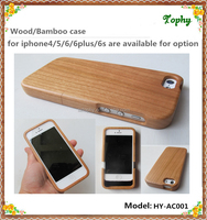 New hot selling angle rounded Paste wood wooden case for iphone 5 6