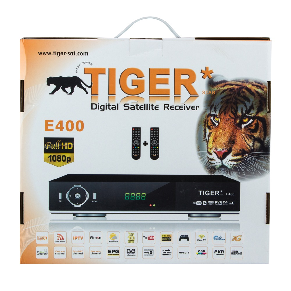 Newest Digital Satellite Receiver Tiger E400+ Free To Air Set Top Box
