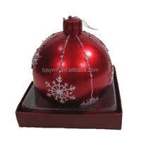 cheap wholesale red Christmas decorative sphere rose round paraffin wax ball art candle