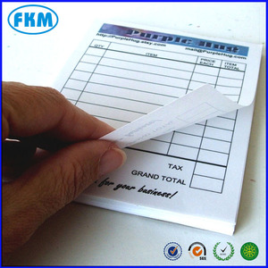 bill Receipt sales book or Invoice pad - Custom, personalized - color laser printing