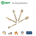 Colorful hot stampted bamboo wood utensils set,disposable compostable birch wood cutlery