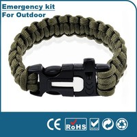 2015 New Style Outdoor Emergency Survival kit rope bracelet,survival bracelet,emergency survival kit