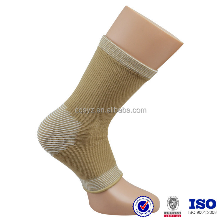 wholesale high elastic knitted nylon spandex sports running China factory made football protective ankle guard