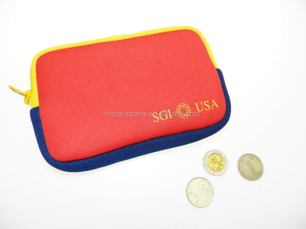 Macaroon Neoprene Coin Purse Women's bag travel bag Jewelry Pouch