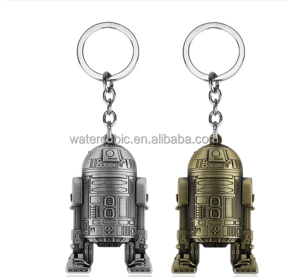 The Force Awakens 3D Robot BB8 R2D2 Pendant Keychain Key Chain Key Ring Stormtrooper Chaveiro Llavero Jewelry