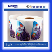 brand sticker offset printing color paper label sticker roll for laundry liquid