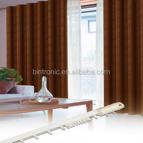 Bintronic Electronic Curtain System For Home Automation Motorized Ripplefold Curtain