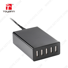 Desktop Charger with USB 40W( 5V8A ) 5USB Port DC Output And Safety UL, FCC, CE, GS Passed