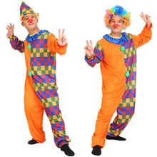New Arrived Funny Clown Costume For Adult Men Wedding Party Joker Wear