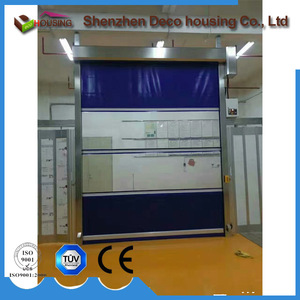 New Arrival pvc roll up shed doors/speed doors plastic fabric fast rolling high speed shutter door prices rapid roller