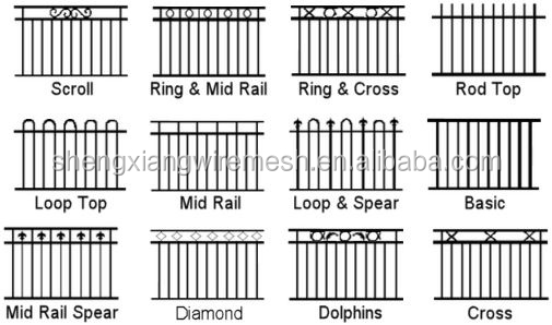 The high quality wrought iron garden metal fencing/galvanized wrought iron fence panels