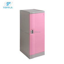 Factory direct sale plastic kid sports lockers with cloth hanger and shelf