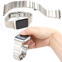 For Apple Watch Stainless Steel Watch Link Band with adapter,For Apple Watch 38mm/42mm high quality band strap wrist link