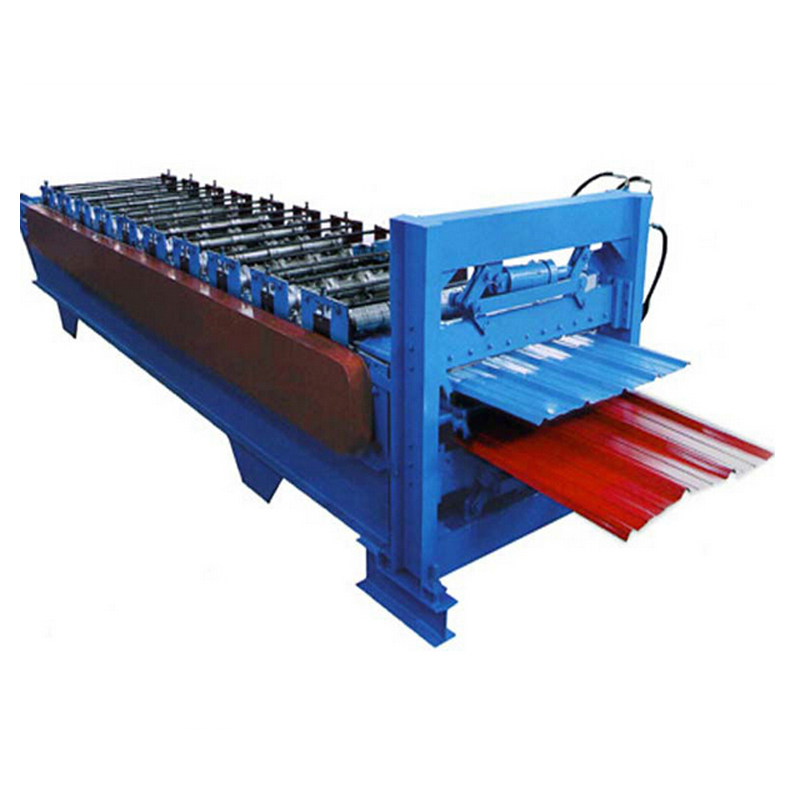 Automatic galvanized double layer corrugated roof sheet making machine
