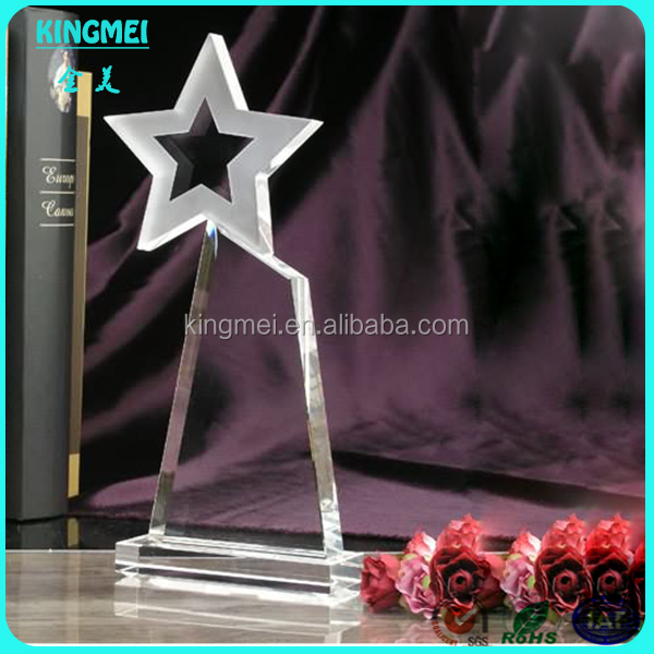 Top grade K 9 quality crystal award plaques,star crystal plaque