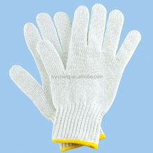 7/10 gauge white knitted cotton gloves manufacturer in china/kong gloves