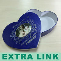 Heart Shaped Jewelry Gift Boxes for Ring & Earring or Clamshell