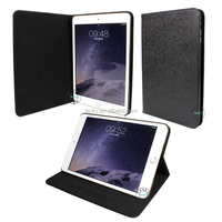 Premium Slim Hard Shell Leather Case Cover For Ipad Mini 3 Tablet Case In Black