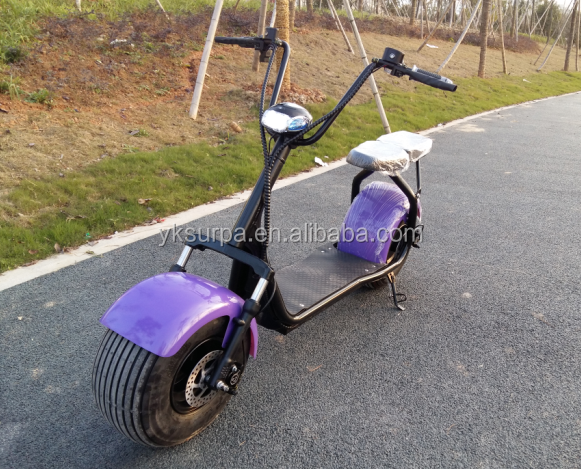 1000w 60v lithium battery fat tire electric scooter/vespa scooters on road price