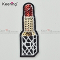 Fashion Applique lipstick sequin Small Iron On Patch WEFB-018