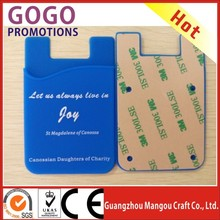 Factory promotion smartphone 3M sticky silicone card holder wallet OEM adhesive smart phone pouch Manufacture Wholesale price