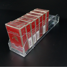 New Style Clear Plastic Cigarette Pusher Display Rack