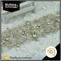 Decorative Furniture Appliques with Crystal Rhinestone for Wholesale Price NRA049