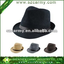 New design British aristocracy Faux Suede Black formal hat