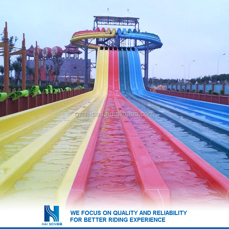 2016 Professional curved fiberglass water slide for sale