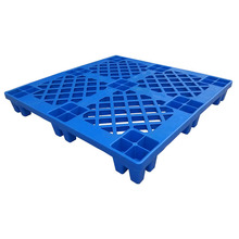 1100 x 1100 mm 4 way entry virgin HDPE material single sides plastic pallet returns