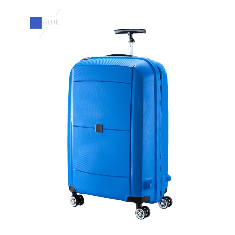 blue trolley luggage PC suitcase for gift with T handle