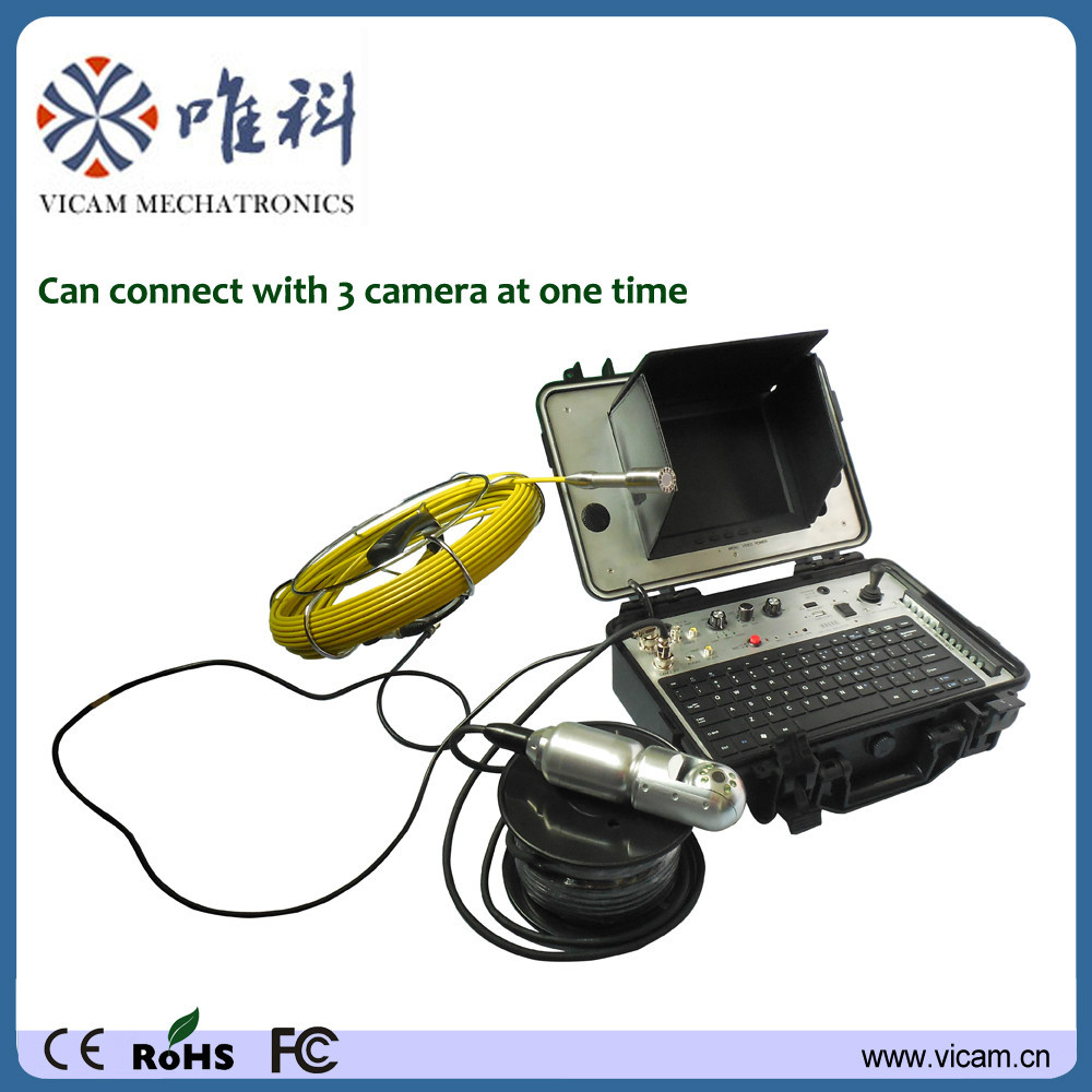 Borehole inspection camera 360 degree under water well camera