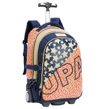 Hot sale school trolley bag high quality single handle trolley backpack bag