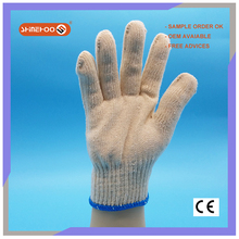 SHINEHOO Natural White 10 Gauge Cotton Outdoor Work Gloves For Sale