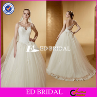 Wholesale Lace Appliqued Ball Gown Tulle Alibaba Wedding Dress 2016