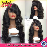 2015 Cheap high quality lace front human hair wigs for black women