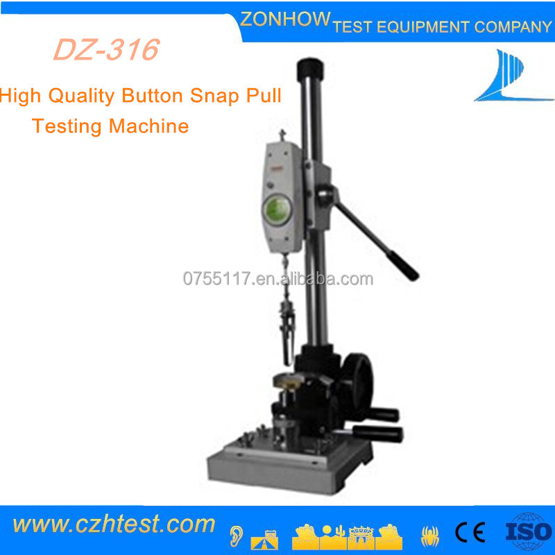 Snap Button Tester made in China Manufacture Lab Test