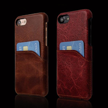 C&T Luxury Leather Mobile Phone Case Cover Hard PC Back Protective Cover with Card Slots for iphone 6s