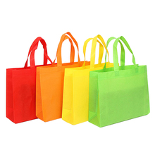 Reusable folding customized printed tote shopping bags with <strong>logos</strong>
