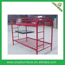 US Style Twin /Twin Size Red Metal Bunk Bed