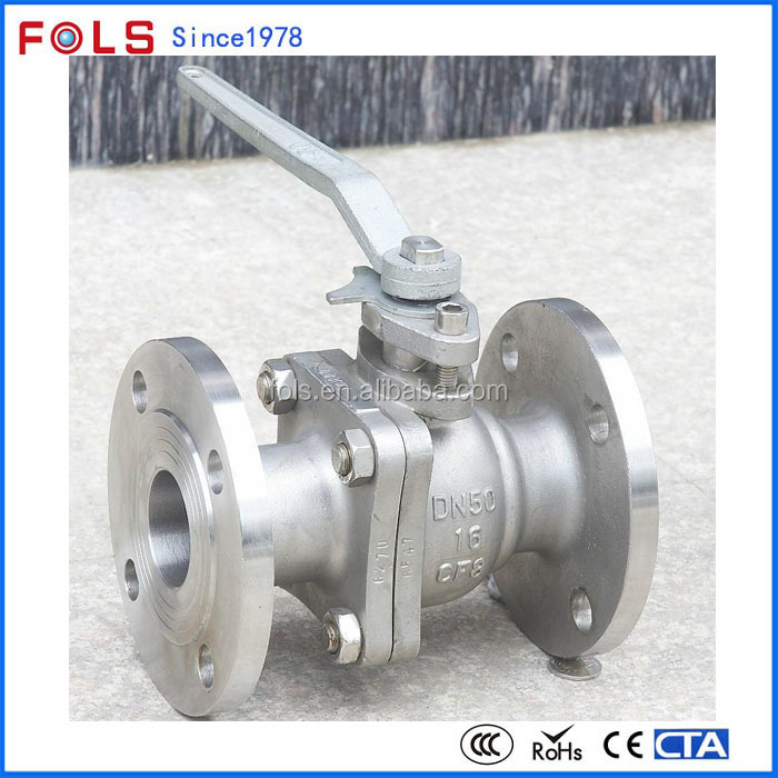 Munual metal seal flanged low pressure ball valve