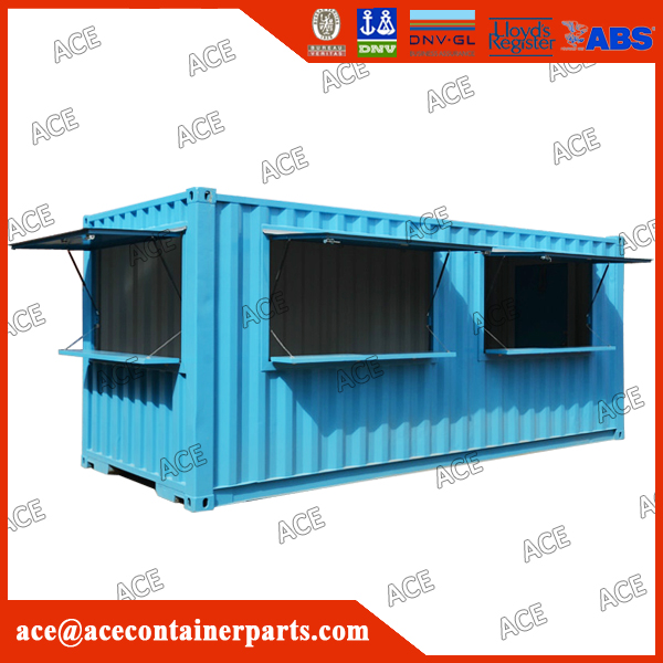 Customized high huality new 20ft 40ft container coffee shop for sale