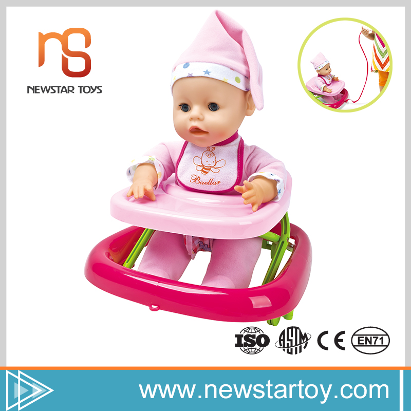 shantou high quality cheap reborn baby dolls for sale with kids walker