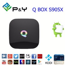2016 hot iptv arabic ip smart 4k ultra output Q BOX S905 2G 16G Quad core android 5.1 tv box