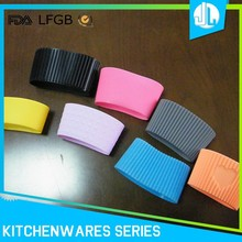 Colorful sealing heat resistant silicone coffee sleeve