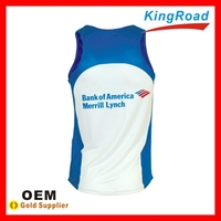 Summer sublimation breathable sleeveless shirt, dry-fit tank top and custom fashion Vest